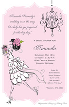 Vintage Classic Bride Bridal Shower Invitations
