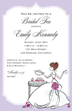 Served By Beautiful Tea Bride Invitations