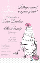Elegant Legs Bride Invitations