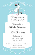 Modern Couple Cake Topper Invitations