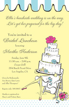 Beautiful Chic Beach Bride Legs Invitation