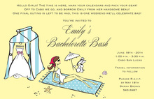 Creative Beach Bride Laying Bridal Shower Invitations