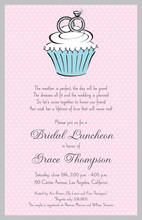 Classic Cupcake Engagement Rings Invitation