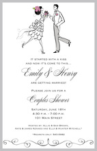Dancing Vintage Couple Invitations