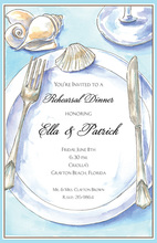 Beach Placesetting Seashells Invitation