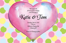Lovely Pink Sweet Heart Invitation