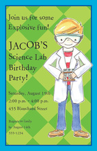 Smart Scientist Boy Invitations