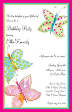 Watercolor Butterfly Wash Invitations