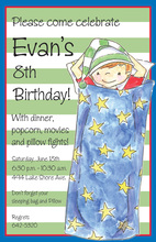 Celebrate Sleepover Boy Invitations