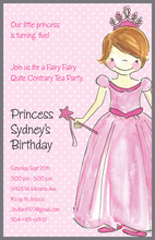 Pretty Princess Girl Birthday Invitations