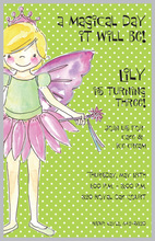 Smiling Fairy Girl Birthday Invitations