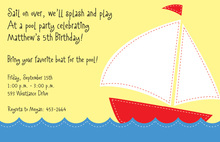 Stitched Boat Invitations