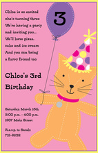 Stitched Kitty Invitations
