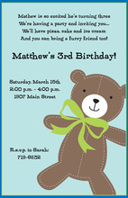 Stitched Bear Invitations