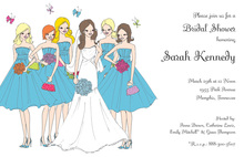 Girls Summer Wedding Invitation