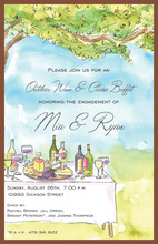 Outdoor Vineyard Classic Brunch Invitations