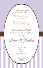 Lavender Frame Oval Invitations
