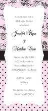 Luxe Mix Pink Tea Length Invitations