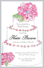 Traditional Floral Cake Invitations