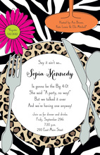Wild Placesetting Invitations