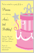 Pink Princess Cake Invitations