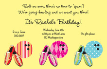Preppy Bowling Invitations