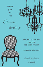 Posh Chandelier Formal Chair Invitation