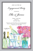 Traditional Champagne Peonies Invitation