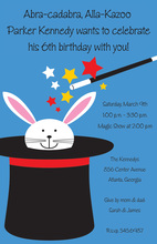 Rabbit Abracadabra Birthday Magic Invitations