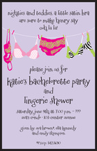 Lavender Hanging Wild Sexy Lingerie Invitations