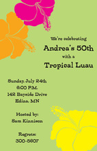 Modern Stylish Hibiscus Invitation