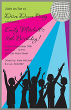 Retro Fun Disco Party Invitations