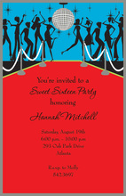 Midnight Disco Ball Party Invitations