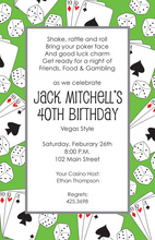 Over Dice Cards Gaming Invitations