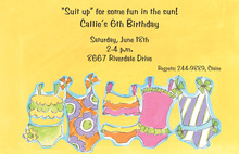 Outfits For Fun In The Sun Invitation