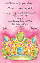 Fancy Crown Jewels Invitation