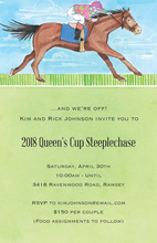 Horse Racing Home Stretch Party Invitations