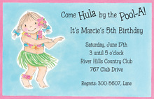 Hawaiian Dancer Birthday Invitation