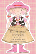 Cowgirl Pixie Kids Party Invitations