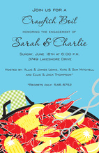 Seafood Crawfish Boil Party Invitations