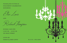 Chandelier Madness Invitation