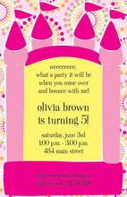 Bouncy Girl Birthday Invitations