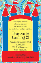 Bouncy Boy Bounce House Invitations