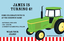 John Deere Farm Tractor Invitation