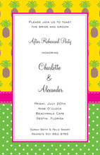 Formal Preppy Pineapples Invitation