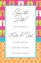 Whimsial Flip Mix Tropical Theme Invitation