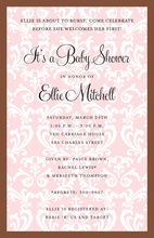 Posh Pink Invitation