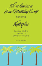 Posh Palms Invitation
