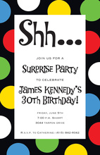 Party Bright Large Polka Dots Invitation