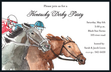Neck and Neck Kentucky Derby Invitations